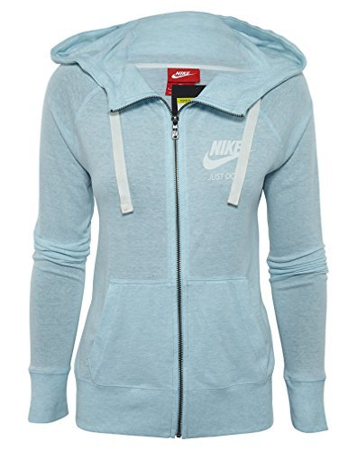 Court Womens Sweatshirt - Nike Women's Sportswear Gym Vintage Hoodie, Blue (L)