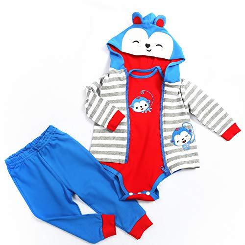 BYNPK Reborn Baby Boy Dolls Clothes Blue Outfits Accessories for 22