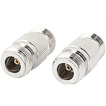 uxcell 2pcs N Female to Female Coax Connector Adapter Couplers