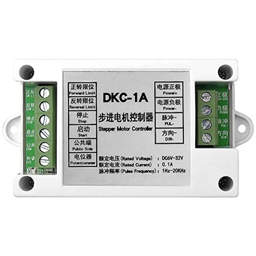 uniquegoods DKC-1A Industrial Stepper Motor Controller DC 6V-32V 20KHz Pulse Generator Servo Controller PLC Module Potentiometer Motor Speed Control
