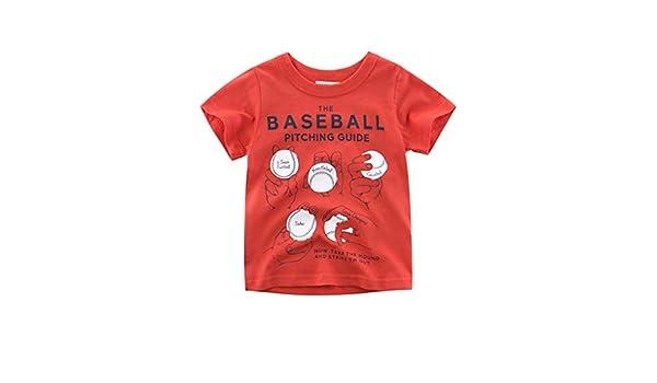 Bebés de Ropa Encantadora, YpingLonk The Baseball Pitching Guide Estampado Casual Camiseta para Niños Primavera y Verano Manga Corta Cuello Redondo Sudadera ...
