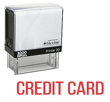 CREDIT CARD Office Self Inking Rubber Stamp - Red Ink (A-5688)