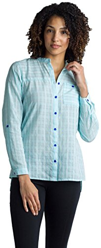 ExOfficio Women's BugsAway Collette LS Shirt, Icelandic, Medium ()