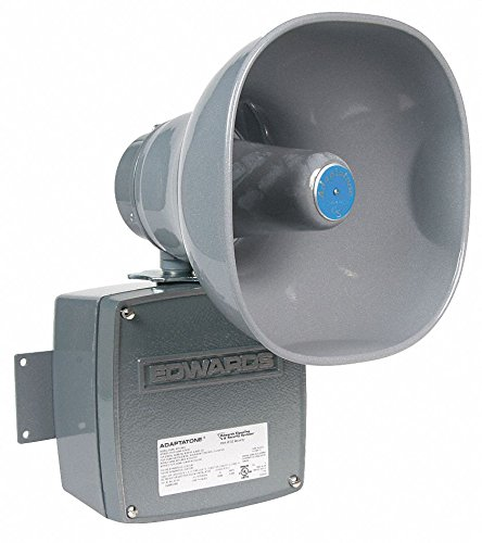 Multi-Tone Signal, Continuous Sound Pattern, 24VAC/DC Voltage, Decibels: 110dB, Color: Gray