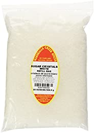 Marshalls Creek Spices Refill Pouch Sugar Crystals Seasoning, White, XL, 20 Ounce
