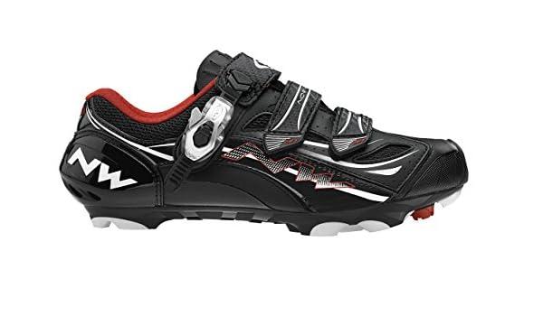 Northwave Northwave - Zapatillas de ciclismo, color negro / blanco / rojo, talla 44: Amazon.es: Deportes y aire libre