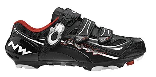 Zapatillas Mtb Northwave Rebel R3 SBS Negro - Talla: 44 negro / blanco / rojo