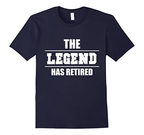 Mens The Legend Has Retired Funny T Shirt Retirement Gift Tee Large Navy (Navy Retirement Gifts For Men)