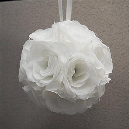Amazon homeford silk flower kissing pomander balls wedding homeford silk flower kissing pomander balls wedding centerpiece white 7 inch mightylinksfo