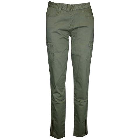Ed Hardy Womens Twill Skinny Cargo Pants -Green - Ed Hardy Womens Girl