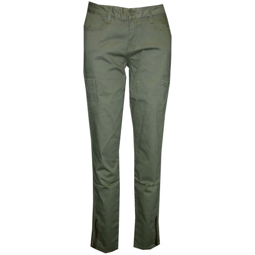 Ed Hardy Womens Twill Skinny Cargo Pants -Green