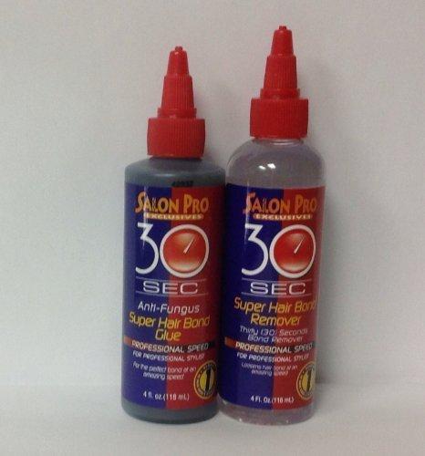 Salon Pro 30sec Super Hair Bond Glue 4oz & Salon Pro 30sec Super Hair Bond Remover ()