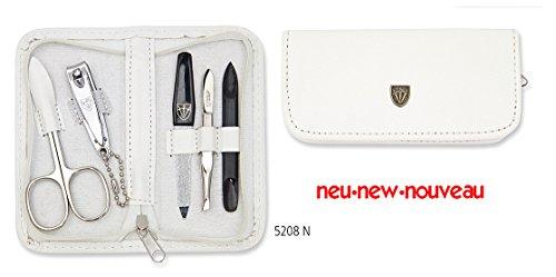 Drei Schwerter   Exklusives 5-teiliges Maniküre - Pediküre - Nagelpflege-Set / Etui   Qualität - Made in Solingen (520807)