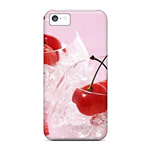 New Diy Design Ice Cool Cherries For Iphone 5c Cases Comfortable For Lovers And Friends For Christmas Gifts