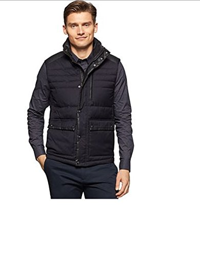 Calvin Klein Mens Quilted Puffer Vest, Black, Medium by Calvin Klein