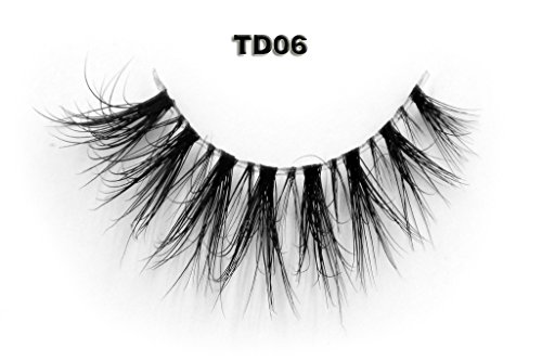 f32f881b1a1 Invisible Transparent Band 3D Mink Fur Fake Eyelashes Women's Makeup False  Lashes Hand-made Mink Lash 1 Pair Pack(TD06) - Buy Online in UAE. | Misc.