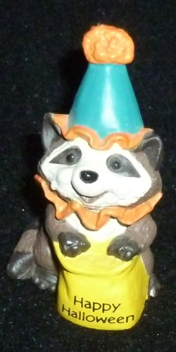 Hallmark Merry Miniature Happy Halloween Raccoon Figurine -