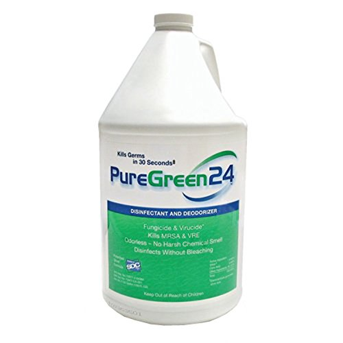 PureGreen24 (Gallon) Disinfectant, Kills Deadly Germs Including 2019 Flu & MRSA Without The use of Toxic ()