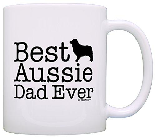 Dog Lover Gifts Best Aussie Dad Ever Australian Shepherd Gift Coffee Mug Tea Cup - Cards Gift Australian