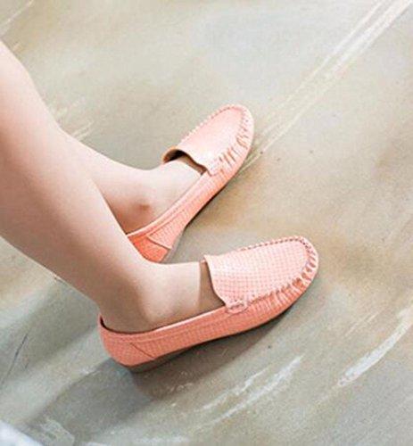 KUKI Runde Kopfschuhe bequeme atmungsaktive Casual flache Schuhe 5