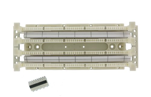 Gigamax Patch Panel Universal 5e (Leviton 41AB2-1F5 GigaMax 5E 110-Style Wiring Block, Wall Mount with Legs Kit, Cat 5E with C5S, 100-Pair)