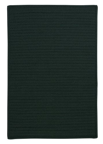 Simply Home Solid Rug, 3 by 5-Feet, Dark Green