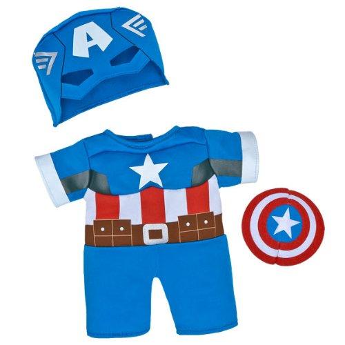 Build-a-Bear Workshop Captain America Teddy Bear Costume 3 pc.