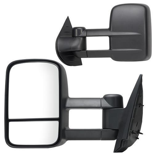 APA Chevy Silverado GMC Sierra Truck 07 – 13 Manual Telescopic Towing Mirror Pair Set