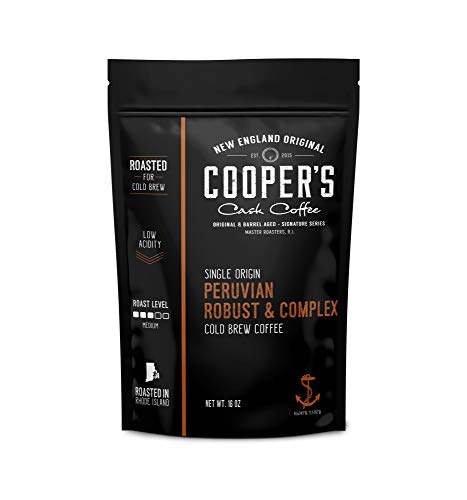 Cold Brew Coffee Peruvian Reserve Single Origin Coarsely Ground Coffee - 1 lb. Bag - Medium Roast