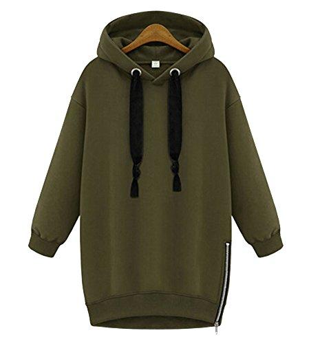 Zip Hoodie Dress - 4