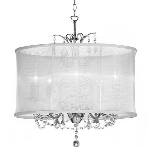 Dainolite Lighting VNA-20-5-119 6 Light Crystal Mini Chandelier, Polished Chrome