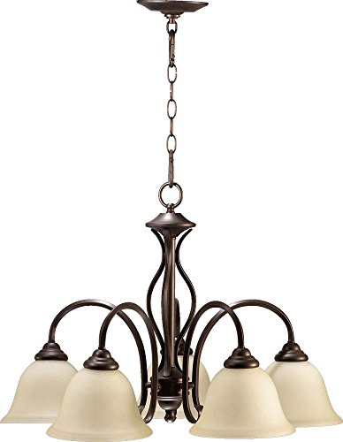 Price comparison product image Quorum International 6410-5-86 Spencer 5 Light Nook,  Oiled Bronze