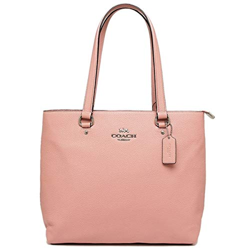 (Coach Pebbled Leather Bay Tote Purse - #F48637 - Petal/Pink)