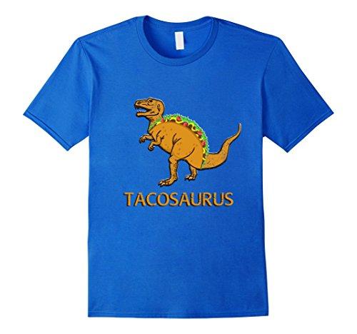 [Men's Tacosaurus Cinco de Mayo Shirt Funny Taco Tuesday T Rex Small Royal Blue] (Pun Costumes For Guys)
