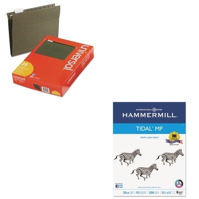 KITHAM162008UNV14115 - Value Kit - Hammermill Everyday Copy And Print Paper (HAM162008) and Universal Hanging File Folders (UNV14115)