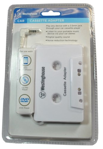 Westinghouse WES-CASS10-WH Car Cassette Adaptor for iPhon...