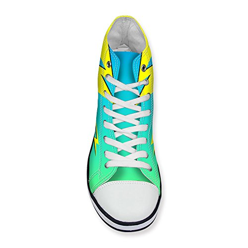 Lace 2 Top up High Green Stylish Sneaker Women's Fashion Print U Cotton FOR Lightning DESIGNS TxwZ6U0Wq8