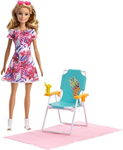 Barbie FPR54 Beach Chair Doll(Blonde (Barbie Summer Doll)