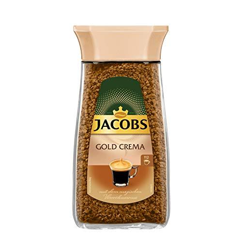 Jacobs löslicher Kaffee Gold Crema, 1 x 200 g Instant Kaffee