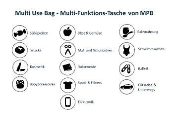 Gr/ö/ße L Multi-Funktions-Tasche wasserdicht und sogar lebensmittelecht Mon Petit Bleu 5901323929786 Multi Use Bag Muster Eulen vielfach nutzbar waschbar