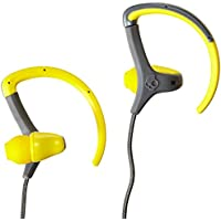 Skullcandy Chops In-Ear Sweat Resistant Sports Earbud, Yellow /Gray