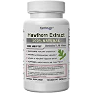 Superior Labs — Best Hawthorn Vitamin Supplement NonGMO, Non Synthetic — 300 mg Dosage, 120 Vegetable Capsules — Powerful Antioxidant — Healthy Digestion — Circulatory & Cardiovascular Health