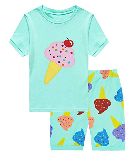Little Hand Girls Pajamas Sets Toddler Short Leggings Outfits 2 Piece Clothes for Kids 6 7 T