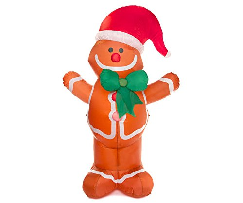 Outdoor Lighted Gingerbread Man Decorations in US - 8