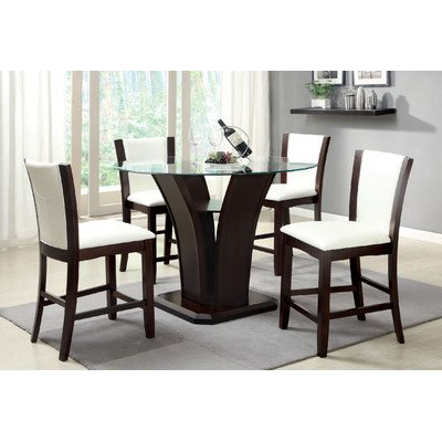 Hokku Designs Carmilla 5 Piece Counter Height Dining Set