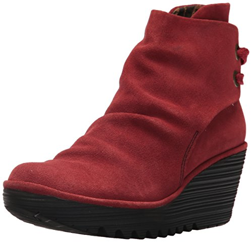 Suede FLY Yama Red Ankle Women's London Boot Z6PqZY0