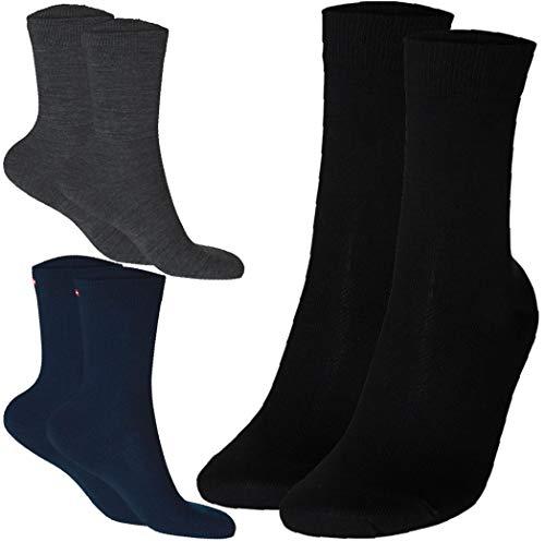 Merino Wool Dress Socks (Navy Blue 3 Pairs, US Women 11-13 // US Men 9.5-12.5)