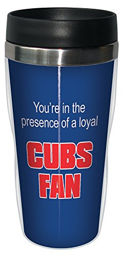 - Tree-Free Greetings sg24081 Cubs Baseball Fan Sip 'N Go Stainless Steel Lined Travel Tumbler, 16-Ounce
