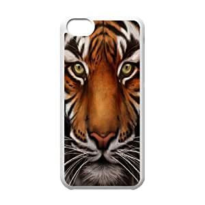 Stevebrown5v Tiger IPhone 5C Case Save the Tiger Cute for Girls, Case for Iphone 5c, [White]