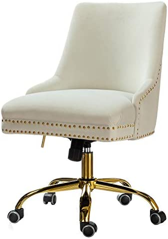 Velvet Fabric Adjustable Task Chair